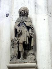 Ermitage de Saint-Clair - Français:   Groupe sculpté Saint Roch, provenant de l\'Ermitage Saint Clair.