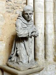 Ermitage de Saint-Clair - Français:   Statue Saint Cyrin, disciple de saint Clair.