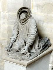 Ermitage de Saint-Clair - Français:   Statue de saint Clair.