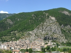 Fortifications et citadelle - Entrevaux - Vue d'ensemble