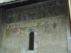 Eglise Saint-Apollinaire -  L'Argentiere-la-Bessee. Eglise St. Apollinaire. Fresque
