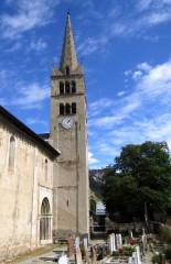 Eglise - English: Saint Marcellin Nevache - church tower