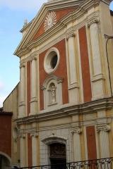 Eglise paroissiale, chapelle Saint-Esprit et tour Grimaldi - English: Antibes - Montée Dor de la Souchère - View NE on Cathédrale Notre Dame de l'Immaculée-Conception