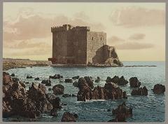 Château fort ou ancien monastère de Lérins - English: Title: Cannes. Le Monastère de St. Honorat Abstract/medium: 1 print: color photochrom; sheet 17 x  23 cm.