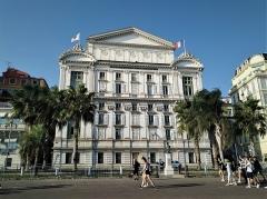 Opéra - Polski: Gmach Opery w Nicei widok od Promenady Anglików