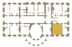 Maison - English: Floor plan of White House second floor showing the location of the Lincoln Bed Room. 18.02.07, Jim Hood.