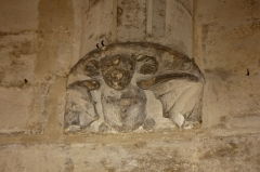 Château du Roi René -  Corbel decorated with a bat, support of the arches of the Grande Garde Robe