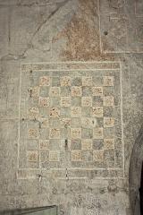 Château du Roi René -  Draughtboard  for chess.