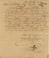 Eglise  et tour attenante - English: Farina Letter 1801
