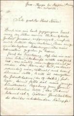 Eglise  et tour attenante - Deutsch: Brief von Heinrich Hermanns (dt. Maler) an einen Notar