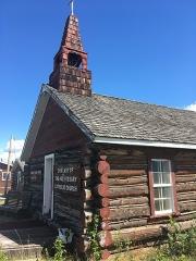 Eglise paroissiale Saint-Martin -  Our Lady of the Holy Rosary Catholic Church, Burwash Landing, Yukon Territory, Canada.