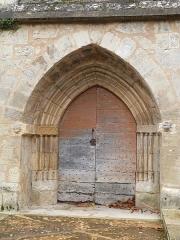 Eglise Saint-Martin et Sainte-Croix - Français:   Portail de l\'église Sainte-Croix à Allas-les-Mines (Dordogne)