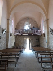 Eglise Saint-Martin et Sainte-Croix - Français:   Intérieur de l\'église Sainte-Croix d\'Allas-les-Mines (Dordogne)