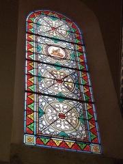 Eglise Saint-Martin et Sainte-Croix - Français:   Vitrail de l\'église Sainte-Croix d\'Allas-les-Mines (Dordogne)