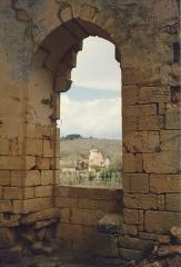 Château de Commarque - English: Château de Commarque en 1985, detail de l' intérieur