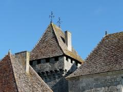 Château de Gageac - Français:   Vue depuis le sud-est, la tour ouest du château de Gageac, Gageac-et-Rouillac, Dordogne, France.
