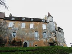 Château de Monsec - Français:   La façade nord du château de Monsec à Mouzens, Dordogne, France.