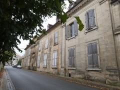 Château - Français:   Façade du château de Saint-Cyprien, dans le département de la Dordogne. Cette façade donne sur la rue Gambetta