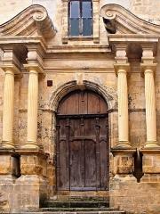 Ancienne Chapelle des Récollets ou des Pénitents et son cloître -  Sarlat-la-Canéda (Dordogne) - Portail de l'église des Recollets (XVIIe siècle)