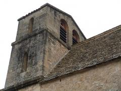 Eglise Saint-Urbain - Français:   Clocher de l\'église Saint-Urbain (Vézac, Dordogne)