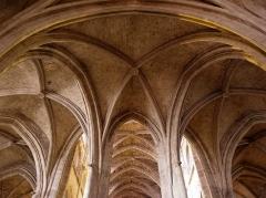 Ancienne cathédrale, dite église Saint-Jean - Voûtes du déambulatoire de la Cathédrale Saint-Jean-Baptiste de Bazas (33).