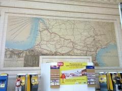 Gare de Bordeaux-Saint-Jean - English: mural map in bordeaux st jean railway station