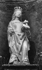 Eglise Saint-Martin - Deutsch: Skulptur der heiligen Katharina in der Kirche Saint-Martin in Listrac-Médoc