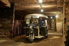 Ancien couvent des Cordeliers - Français:   Les galeries souterraines de trois kilomètres sous la cité de Saint- Emilion