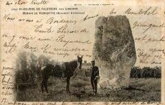 Menhir de Peyrefitte ou de Pierre Fitte - French photographer and editor