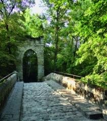 Château Bourran - Deutsch: Gotische Brücke im Park des Château de Bourran