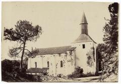 Ancienne église prieurale - Français:   Abbaye Ste-Marie - Mimizan (Félix Arnaudin 1897)