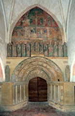 Ancienne église prieurale - Français:   Mimizan Clocher-porche façade orientale