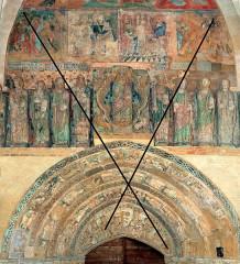 Ancienne église prieurale - Français:   Mimizan Clocher-porche Diagonales