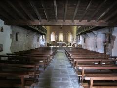 Eglise de l'Assomption - English: Nave of the church Notre-Dame-de-l'Assomption in Bidarray (Pyrénées-Atlantiques, France).