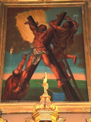 Eglise - Français:   Gotein (Gotein-Libarrenx, Pyr-Atl, Fr) painting of crucifixion