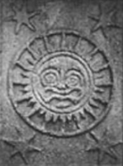 Croix de l'ancien cimetière - English:   This is an up close picture of one of the symbols found on the base of the cross of Hendaye