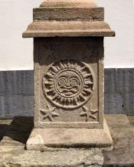 Croix de l'ancien cimetière - Français:   une des faces du socle de la croix cyclique d\'Hendaye