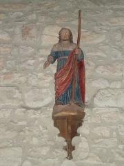 Eglise de l'Assomption - English: Lasseube (Pyr-Atl, Fr) statue pilgrim of St.James.