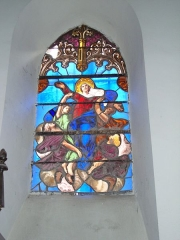 Eglise de l'Assomption - English: Lasseube (Pyr-Atl, Fr) stained glass window Assumption of Mary