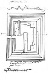 Redoute de Bortuste - Euskara: Bortusteko gotorlekua 1813 Egilea: izenperik gabe 37,5 x 25 cm  Baionako Udal Liburutegia