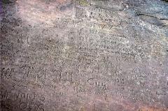 Sommet et musée du Donon - Deutsch: Felsinschrift auf dem Donon