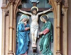 Ancienne abbaye bénédictine - Alsace, Bas-Rhin, Abbatiale Saint-Étienne de Marmoutier (PA00084783, IA67007715). Détail du chemin de croix (XIXe).