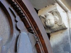 Ancienne église des Jésuites, ou église catholique Saint-Georges - Alsace, Bas-Rhin, Église Saint-Georges de Molsheim, ancienne église des Jésuites (1618) (PA00084798, IA67006097). Portail principal.