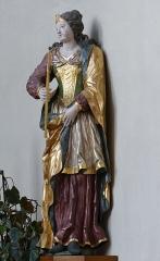 Ancienne église des Jésuites, ou église catholique Saint-Georges - Alsace, Bas-Rhin, Église Saint-Georges de Molsheim, ancienne église des Jésuites (1618) (PA00084798, IA67006097).  Statue de Sainte Apollonie (XVIIIe):       This object is classé Monument Historique in the base Palissy, database of the French furniture patrimony of the French ministry of culture,under the referencesPM67000755 and IM67009675. беларуская (тарашкевіца)  brezhoneg  català  Deutsch  English  español  suomi  français  magyar  italiano  македонски  Plattdüütsch  português  українська  +/−