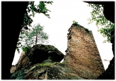 Ruines du château Petit-Arnsberg - Deutsch: Ruine der  Burg Petit- Arnsberg.
