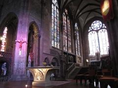 Ancienne cathédrale ou église Saint-Georges -  Alsace, Bas-Rhin, Sélestat, Église Saint-Georges (PA00084978, IA00124588):Vue sur le chœur.