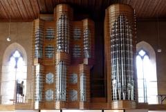 Eglise protestante Saint-Jean-l'Evangéliste - Alsace, Bas-Rhin, Wissembourg, Église protestante Saint-Jean, place Martin Bucer (PA00085246, IA67008033).  Nouvel orgue Dominique Thomas (2015): http://decouverte.orgue.free.fr/orgues/Orgues de St-Jean, Wissembourg