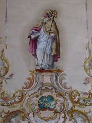 Eglise catholique Sainte-Marguerite - Alsace, Bas-Rhin, Église Sainte-Marguerite de Geispolsheim (PA00085279, IA00023181).  Chœur, Fresque