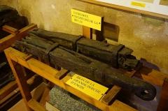 Puits de la mine Haus Österreich - Français:   Une partie du système d\'exhaure de la mine Haus Österreich (puits Mathis) conservé dans la Maison du Val de Villé.