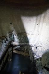 Puits de la mine Haus Österreich - Français:   Mine Haus Österreich (puits Mathis). Photographie prise lors de la sortie annuelle de la Fédération du patrimoine minier où l\'orifice du puits a été exceptionnellement dénoyé pour la journée, 25 ans après sa remise en eau.